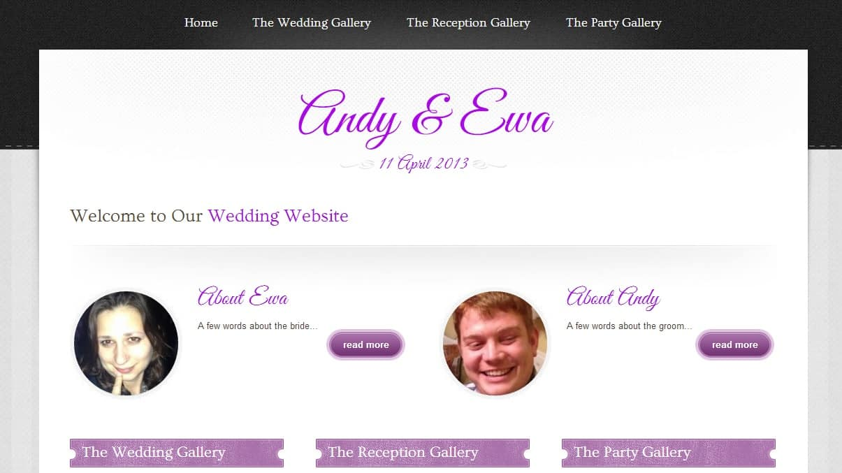 Mr and Mrs Bowman Website
