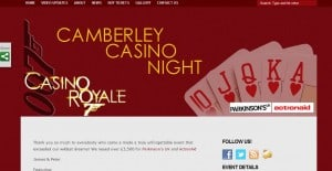Camberley Casino Night Website