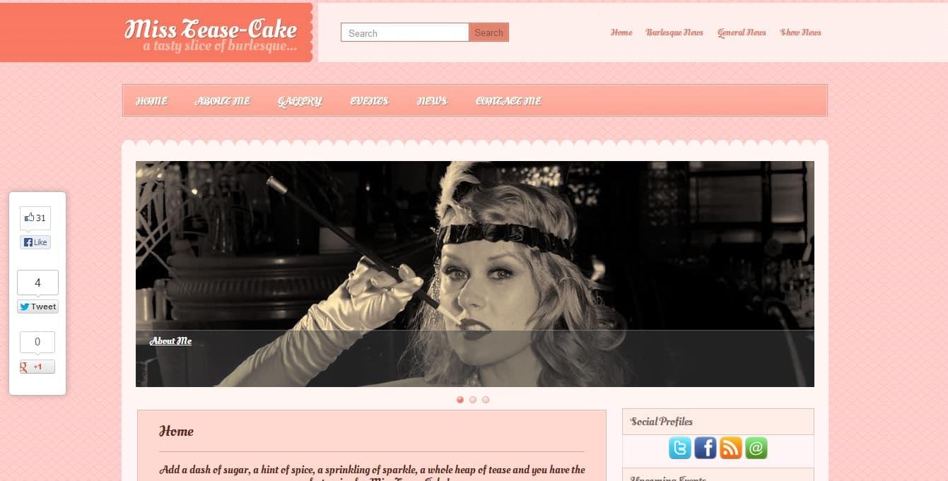 Miss Tease Cake Website